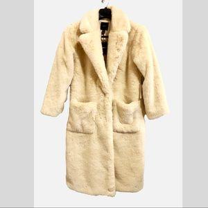 NWT Faux Shearling Fur Coat Sz S